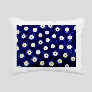 Polish Pottery Polka Dot Rectangular Canvas Pillow